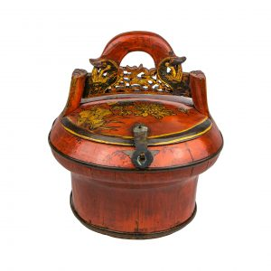 Chinese Carved Handle Ceremonial Box