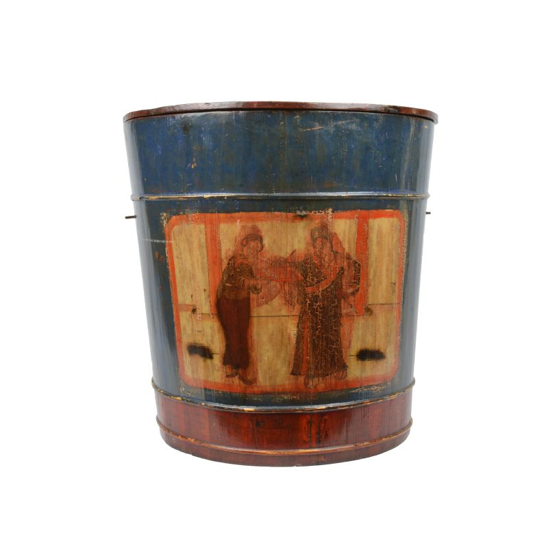 Chinese Large Wooden Painted Box