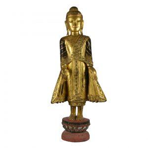 Burmese Standing Figure of a Buddha
