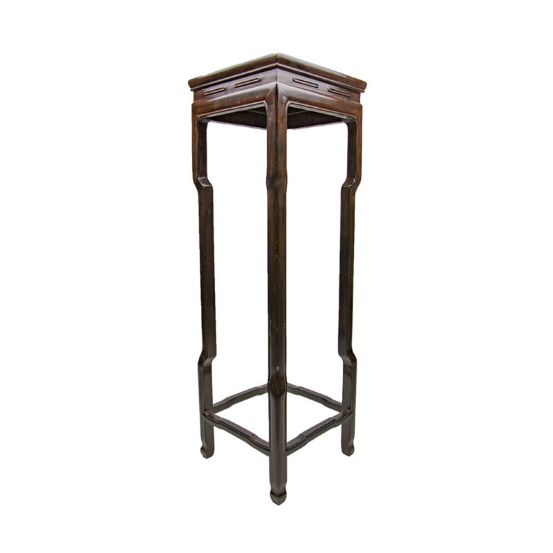 Chinese Wooden Curved High Legs Display Stand