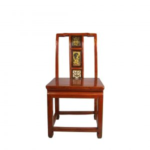 Chinese Red Lacquered Small Side Chair
