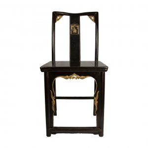 Pair of Chinese Black Lacquered Chair
