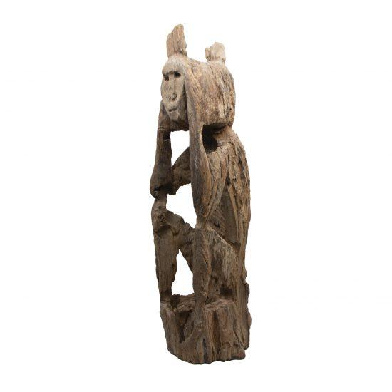 Wooden Jaraï Sculpture From Viêtnam
