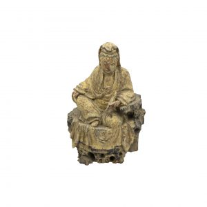 Chinese Guanyin Holding a Scroll