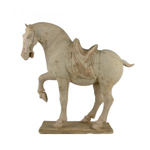 Chinese Terra Cotta of a Tang Standing Horse Figure