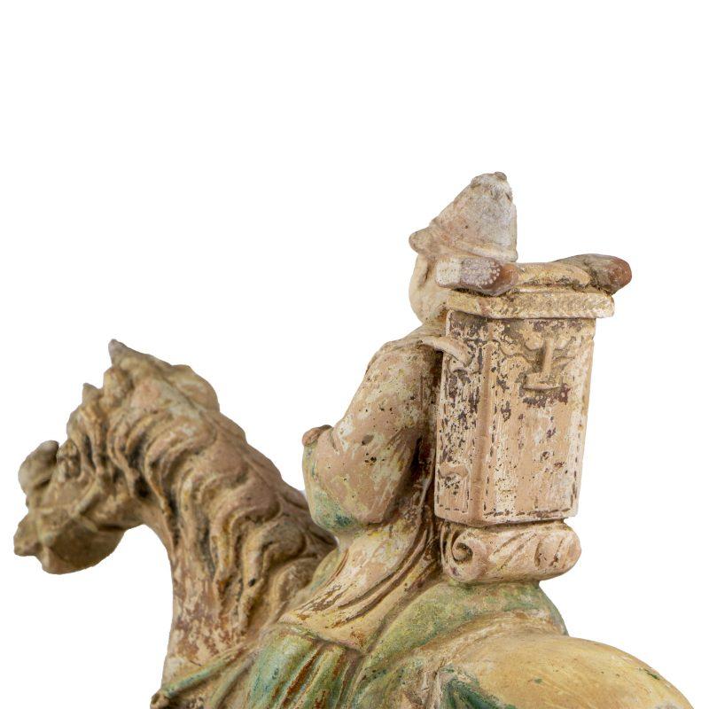 Terre cuite chinoise de la dynastie Ming d'un cavalier