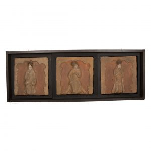 Group of Antique Chinese terra cotta tiles from the Song dynasty that depicts a musical intermède