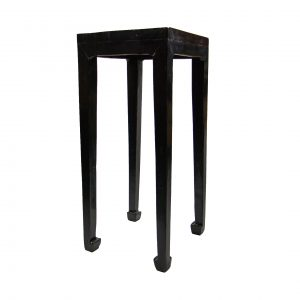 Antique Chinese Black Lacquered Side Table