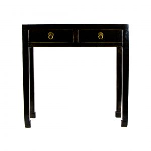 Antique Chinese Black Lacquered Console Table