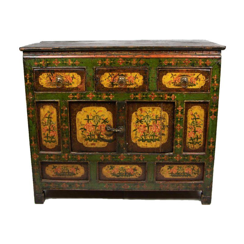 Tibetan Painted Small Sideboard